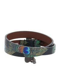 Alexander McQueen - Multicolor Double Wrap Skull Bracelet - Lyst