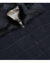 Valentino - Blue Goat Collar Bomber Jacket for Men - Lyst