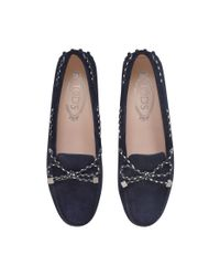 Tod's | Blue Heaven Lace Scooby Doo Driving Shoes | Lyst