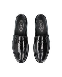 Tod's - Black Penny Spatz Loafers for Men - Lyst
