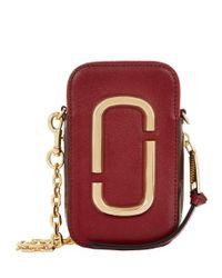 Marc Jacobs Red Hotshot Zip-around Phone Pouch