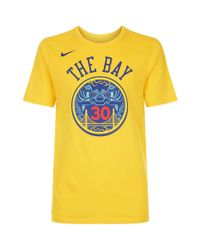 free shipping e1244 70714 Men's Yellow Stephen Curry Golden State Warriors T-shirt