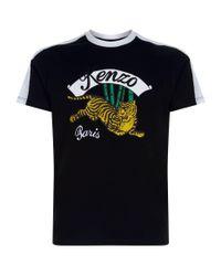 KENZO Black Jumping Tiger T-shirt for men