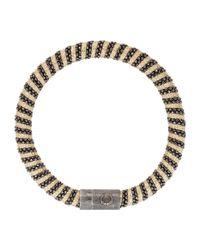 Carolina Bucci - Black Gold-plated Woven Bracelet - Lyst