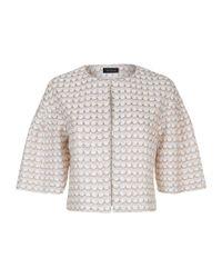 St. John Multicolor Scallop Knit Sequin Jacket