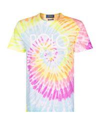 Polo Ralph Lauren Pink Tie-dye Logo Print T-shirt for men