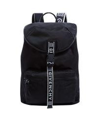 Givenchy Black Nylon Logo Backpack for men