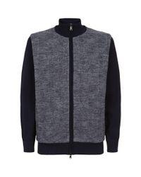 Paul & Shark Gray Knitted Wool Blouson Jacket for men