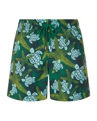 Vilebrequin Green Moorea Starfish Swim Shorts for men