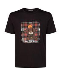 Neil Barrett Black Punk Bear T-shirt for men