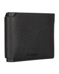 Lanvin Black Pebble-grain Leather Bifold Wallet for men