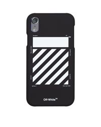 Off-White c/o Virgil Abloh Black Diagonal Print Iphone Xr Case
