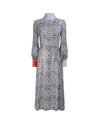 Olivia Rubin Gray Leopard Print Shift Dress