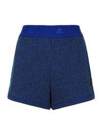 Adidas Blue 2-in-1 Training Shorts
