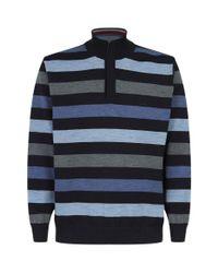 Paul & Shark Gray Knitted Zip-up Sweater for men