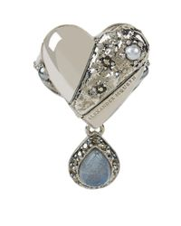 Alexander McQueen | Metallic Heart Locket Ring | Lyst