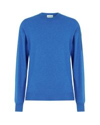 Moncler Blue Cashmere Sweater for men