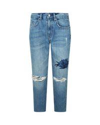 AllSaints Blue Rose Distressed Jeans
