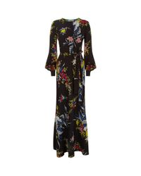 Diane von Furstenberg Black Floral Maxi Dress