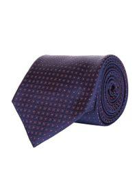 Corneliani | Blue Mini Circle Tie for Men | Lyst