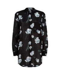 Equipment Black Daddy Floral Print Shirt