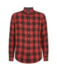 Polo Ralph Lauren Red Cotton Check Shirt for men