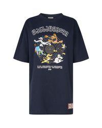 Vetements Blue Cartoon T-shirt