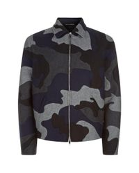 Valentino Black Camouflage Intarsia Jacket for men
