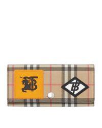 Burberry Multicolor Vintage Check Appliqué Continental Wallet