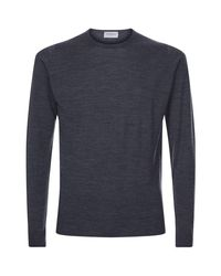 John Smedley Gray Merino Wool Sweater for men