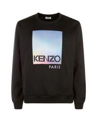 KENZO Black Rainbow Logo Sweatshirt for men