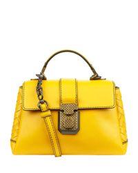 Bottega Veneta Yellow Mini Piazza Shoulder Bag