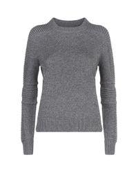 AllSaints - Gray Harley Crew Neck Sweater - Lyst