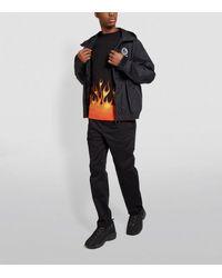 Palm Angels Black Fire T Shirt for men