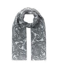 Weekend by Maxmara White Paisley Printed Scarf