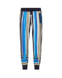Dolce & Gabbana Blue Striped Sweatpants for men