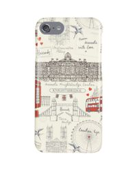 Harrods Natural Sketchy London Iphone 7 Case