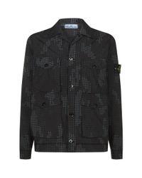 Stone Island Black Overshirt Jacket for men