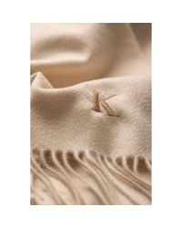 Johnstons Natural Classic Cashmere Scarf for men