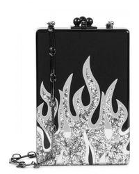Edie Parker | Carol Flames Black Box Clutch | Lyst