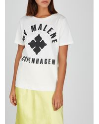 By Malene Birger White Marianne Printed Cotton T-shirt