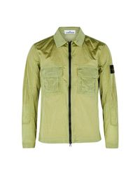 Stone Island Green Nylon Metal Shell Jacket for men