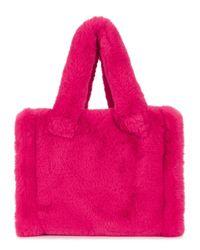 Stand Studio Liz Hot Pink Faux Fur Tote