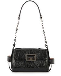 Givenchy Id Black Leather Shoulder Bag