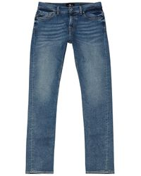 7 For All Mankind Blue Ronnie Luxe Performance Skinny Jeans for men