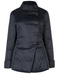 Armani Blue Navy Padded Shell Jacket