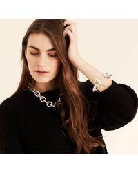 Amanda Wakeley Metallic Chunky Silver Bracelet