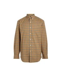 Burberry Multicolor Small Scale Check Cotton Shirt for men