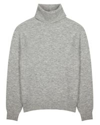 Nanushka Gray Malthe Grey Mélange Knitted Jumper