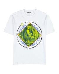 McQ Alexander McQueen White Printed Cotton T-shirt for men
